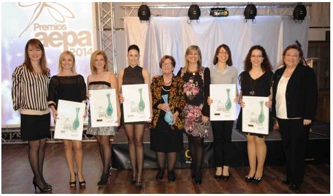 Premios Aepa'14 - Marisa Garcia junto a otras de las galardonadas